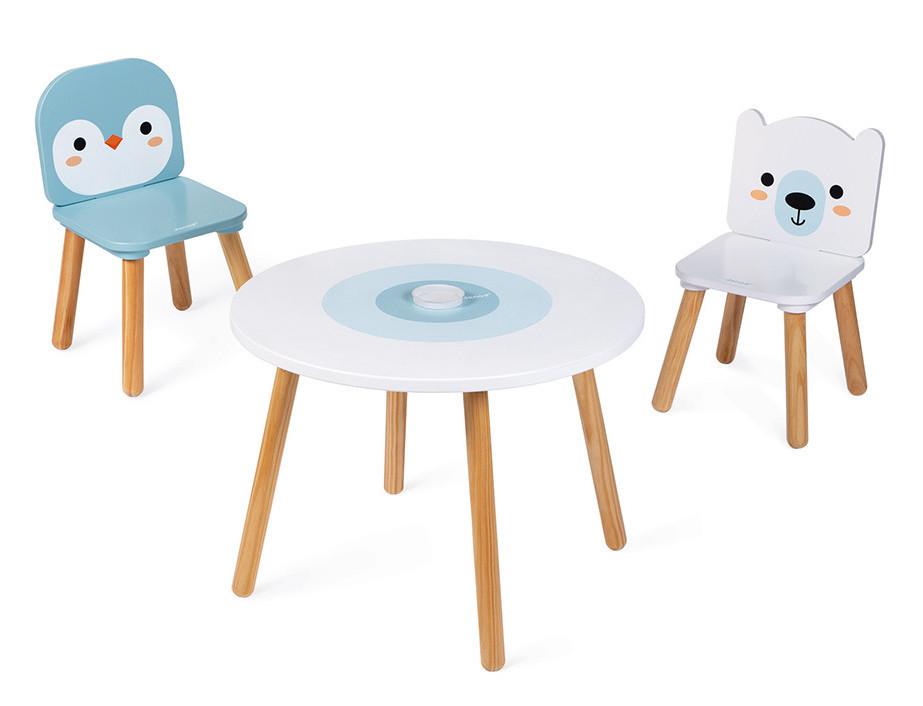 Tavolo Gioco con 2 Sedie - Polo Nord