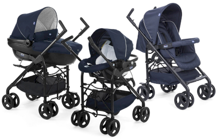 Poussette Trio Sprint Chicco Blue Passion