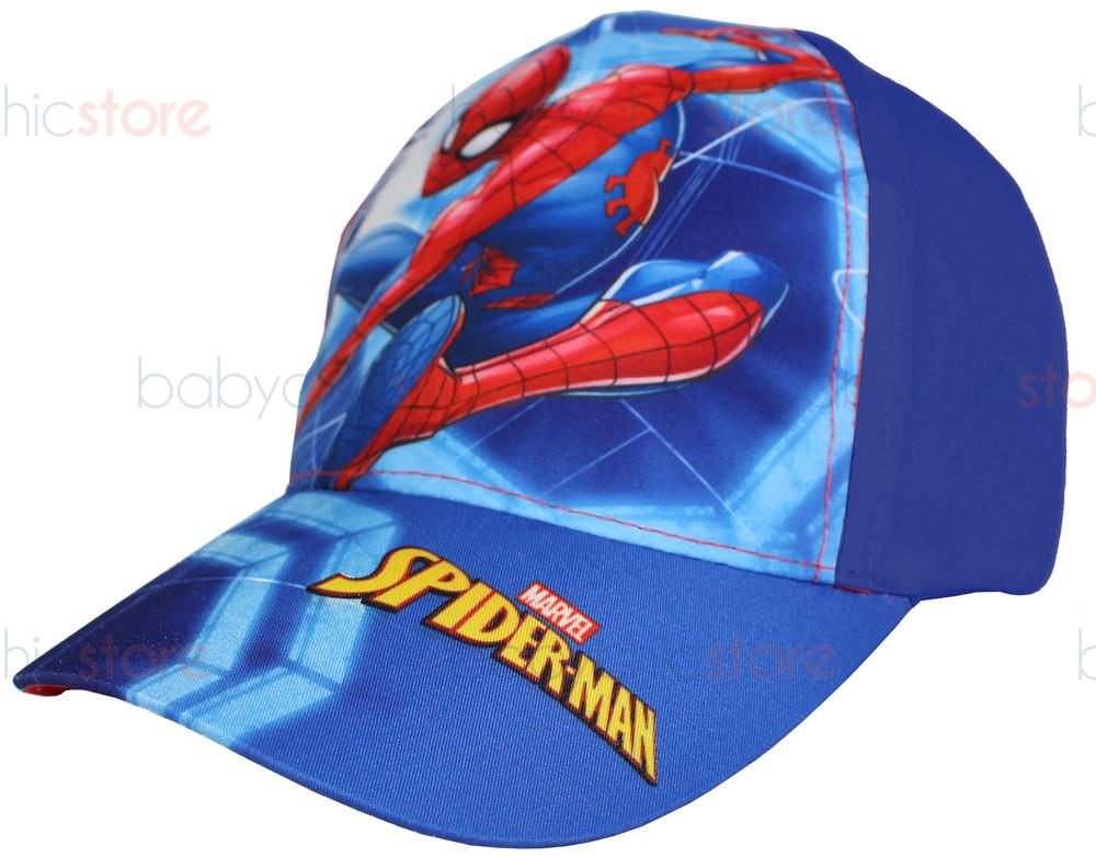 Casquette Spiderman avec visière - Bleu