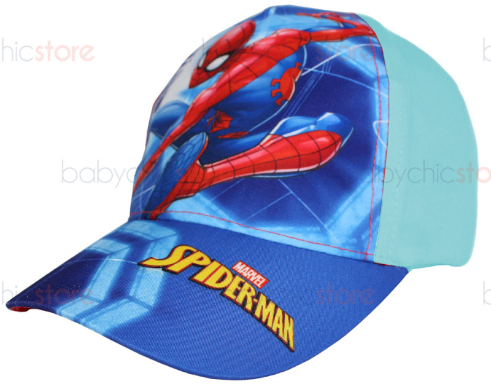 Gorra Spiderman con visera - Azul claro