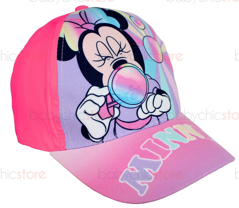 Casquette Minnie Mouse avec visière - Bulles de savon magenta