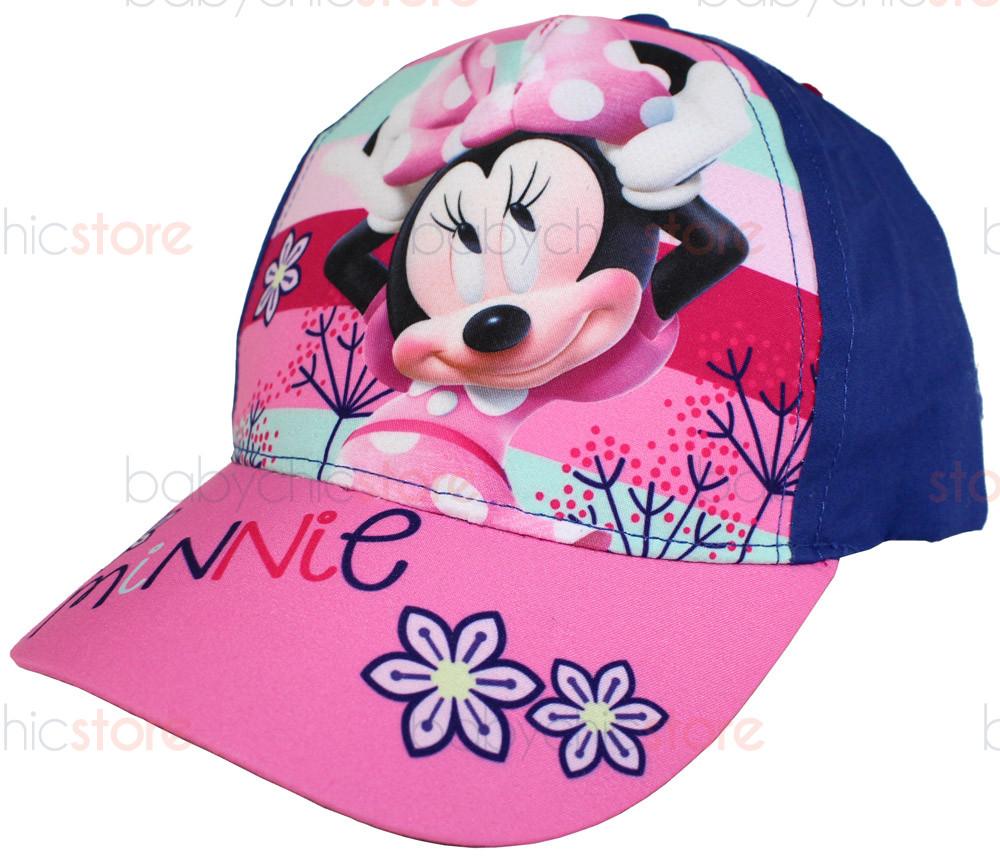 Gorra de Minnie Mouse con visera - Flores Azul