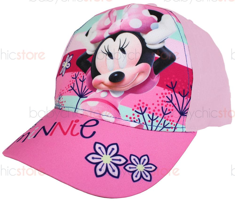 Gorra con visera de Minnie Mouse - Flores rosas