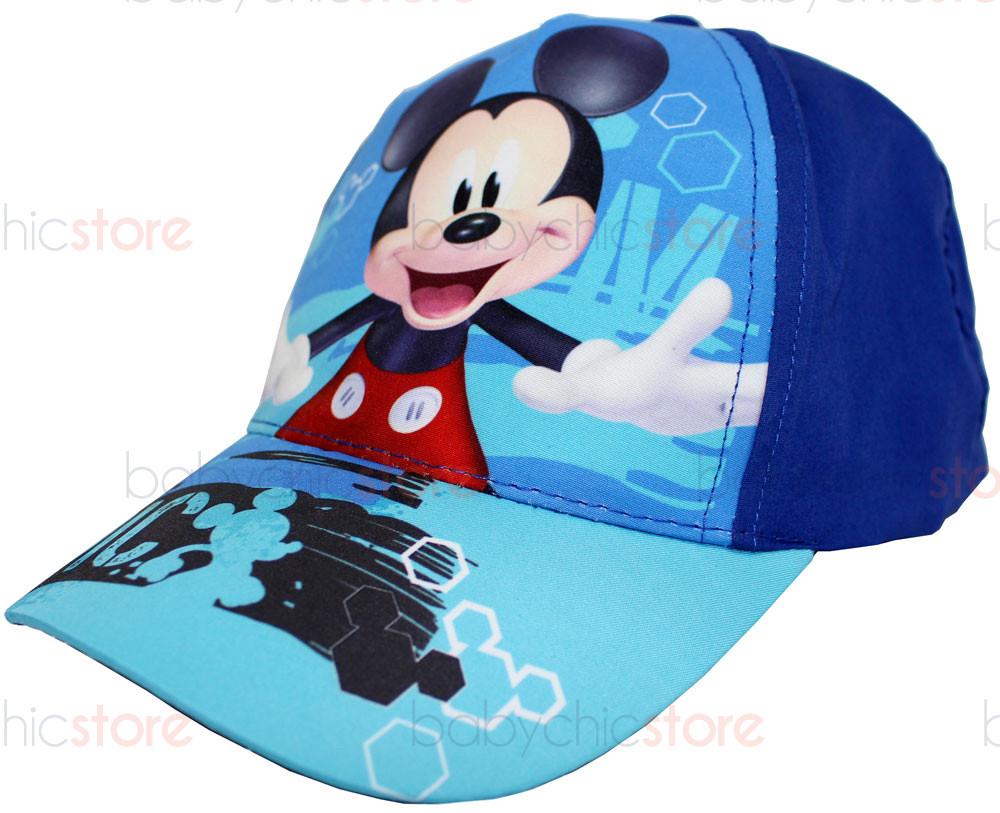 Cappellino con Visiera Mickey Mouse - Blu