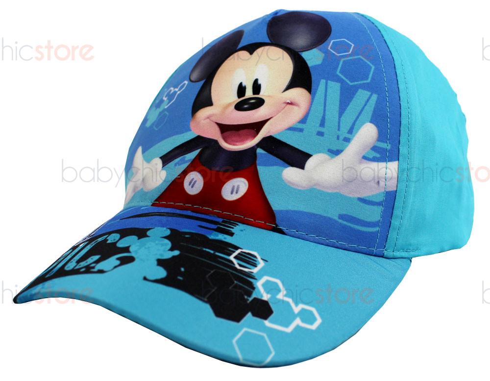 Cappellino con Visiera Mickey Mouse - Azzurro