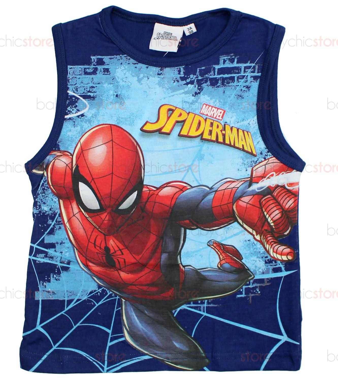 Canotta Spiderman Blu - 6 Anni