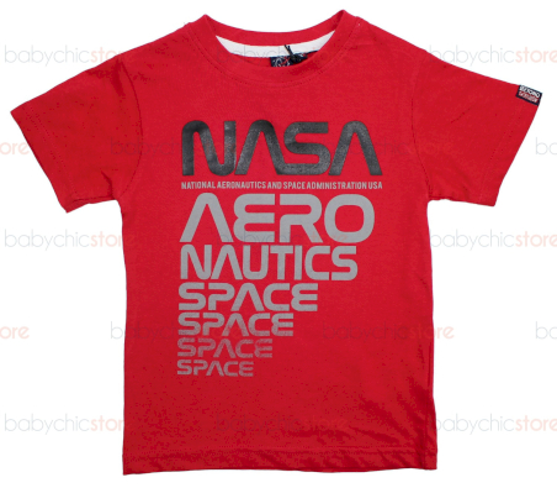 T-Shirt NASA Rossa - 4 Anni