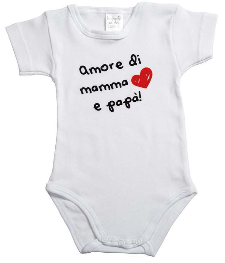 Body Mezza Manica Amore di Mamma e Papà - 1 Mese