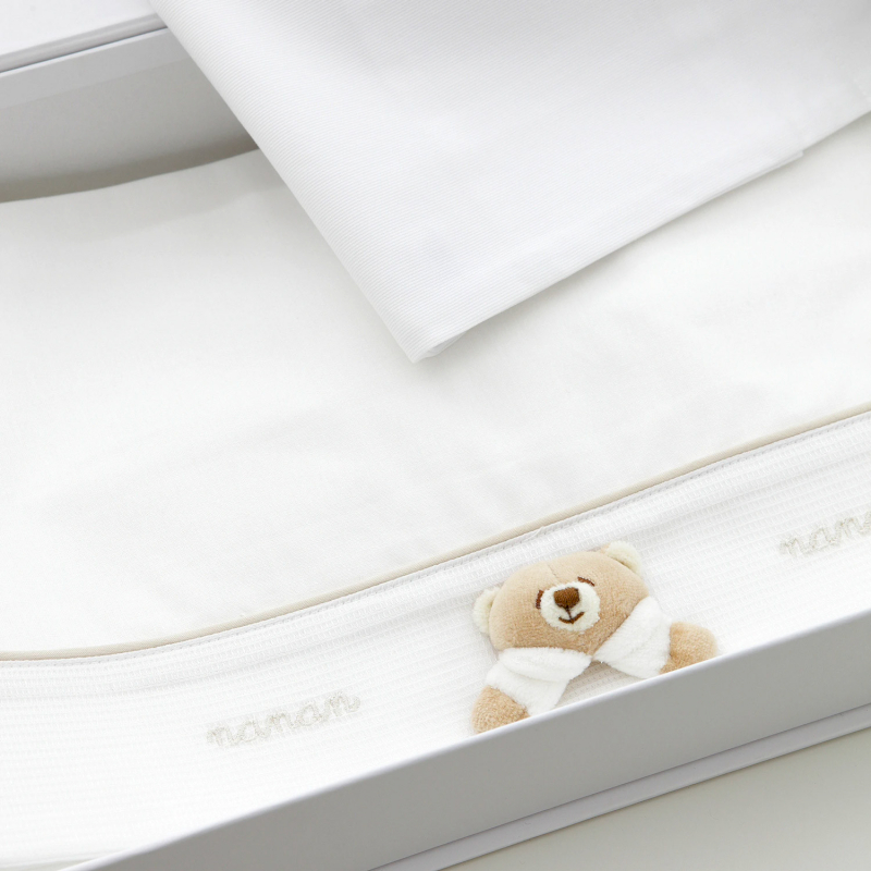 Feuilles de poussette Nanan Tato blanches