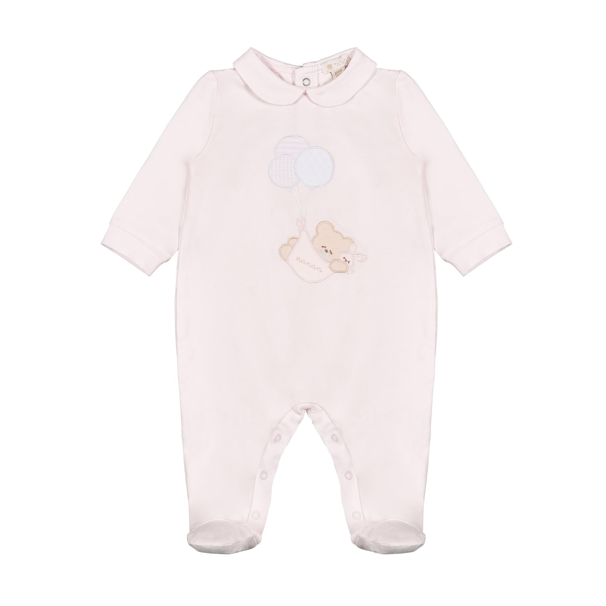 Pelele rosa con osito de peluche y globos Nanan - 6 meses