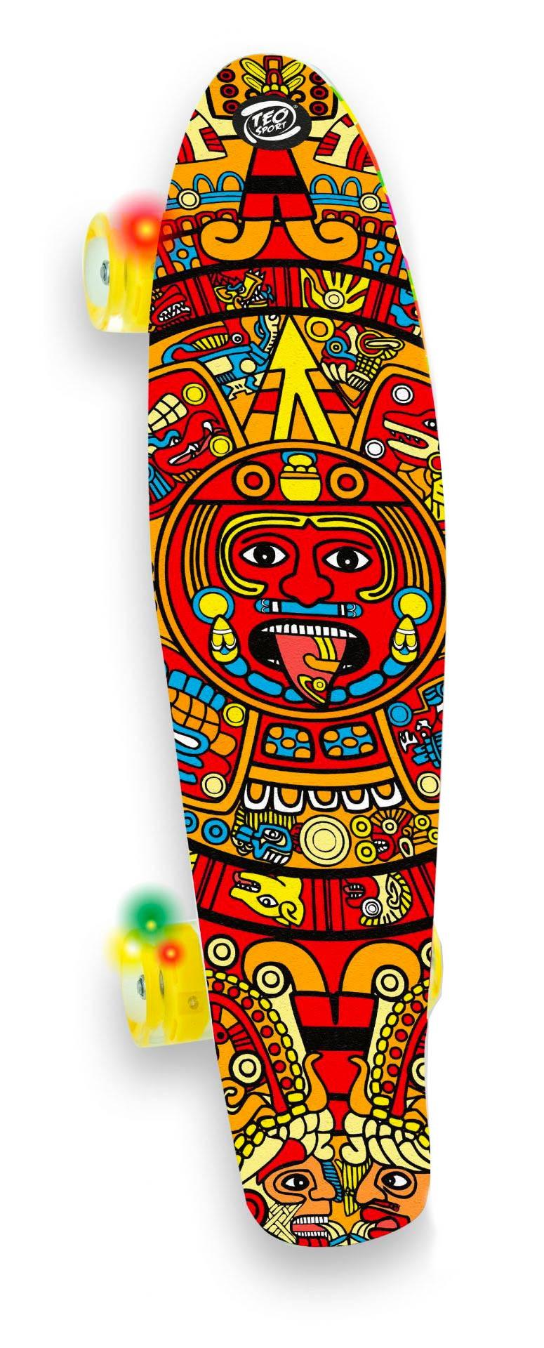Skateboard Con Ruote Led - Arancione
