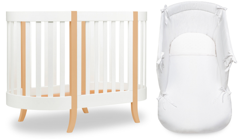Lettino Ovale Agorà Bianco/Naturale - Completo