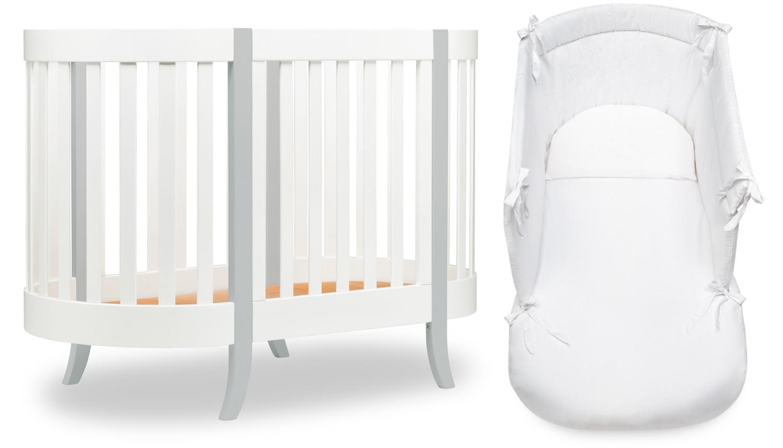 Lettino Ovale Agorà Bianco/Grigio - Completo
