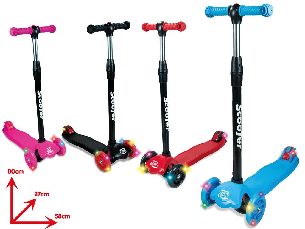 Twist 3-Rad-Roller mit rosa LED-Lichtern