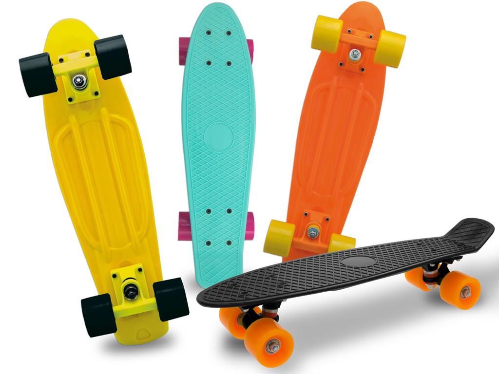 Skateboard per Bambino - Fluo Azzurro