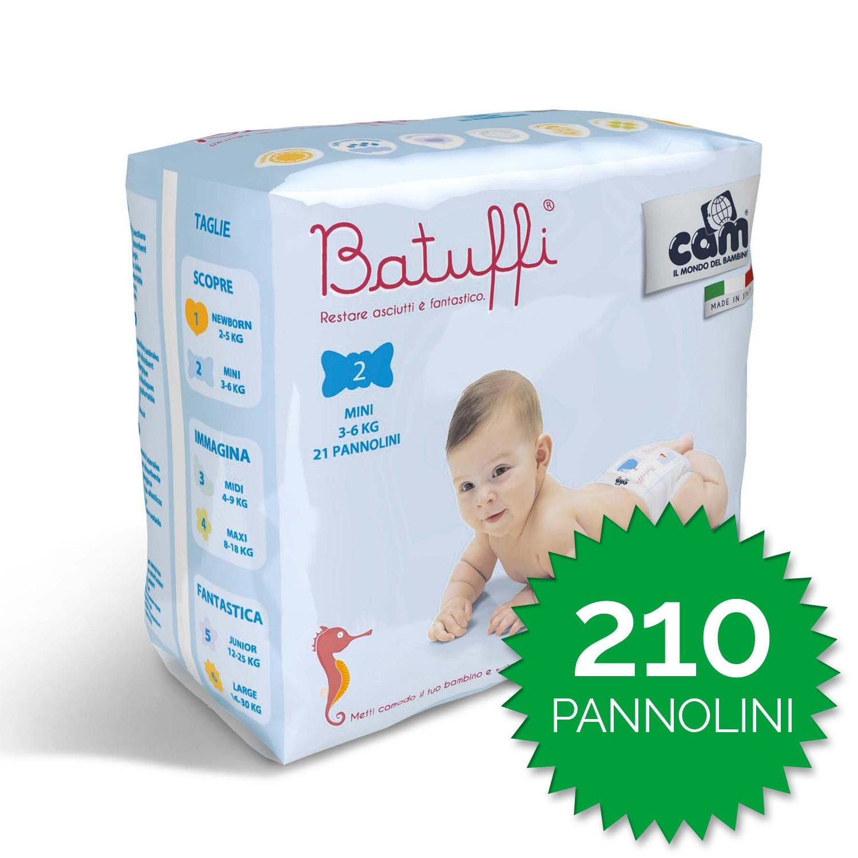 Cam Pañales Batuffi Talla 2 - 210 piezas