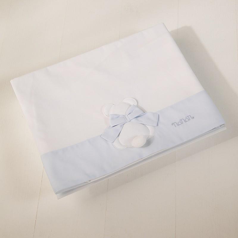 Nanan Set de Linge pour Lit bébé Fiocco Bleu