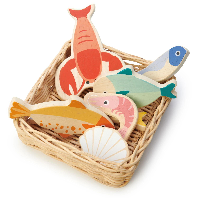 Alimentos de juguete Tender Leaf Toys Seafood Basket