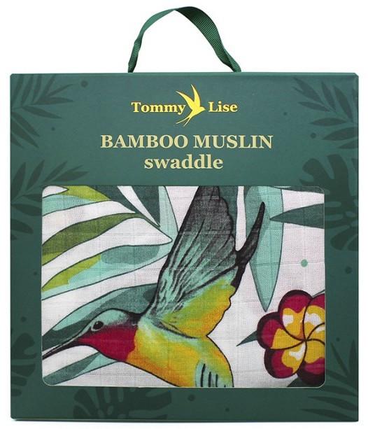 Tommy Lise - Mussola in Bambù Flowery Grace