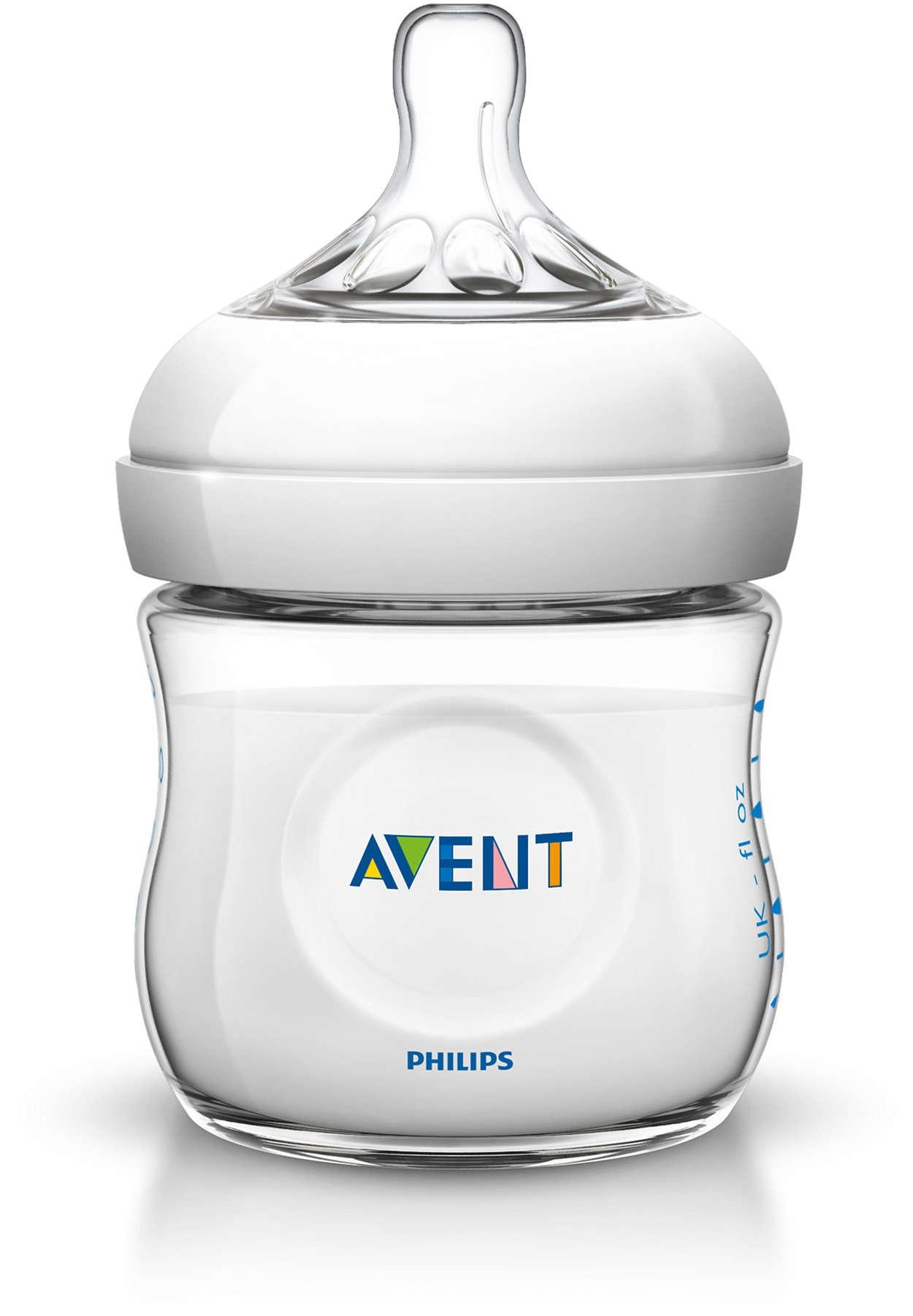Avent Natural Babyflasche 125 ml Weiß