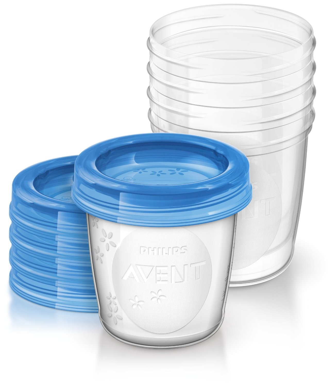 Pots de Conservation pour Lait Maternel Avent - Set de 5 pièces